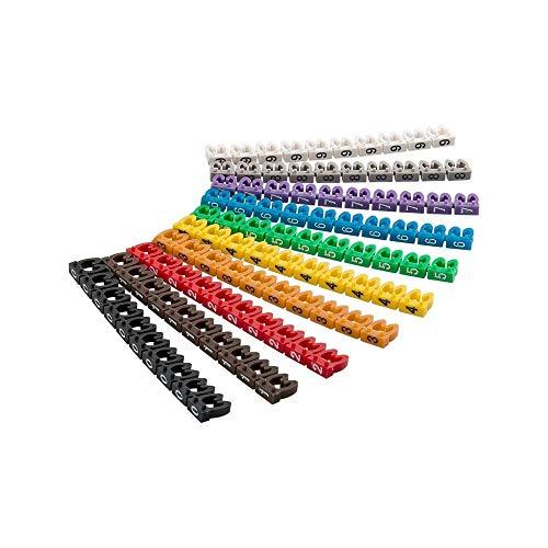 goobay Clips para marcar Cables 0-9'por diámetro, de Colores Coloreado 4,0 mm