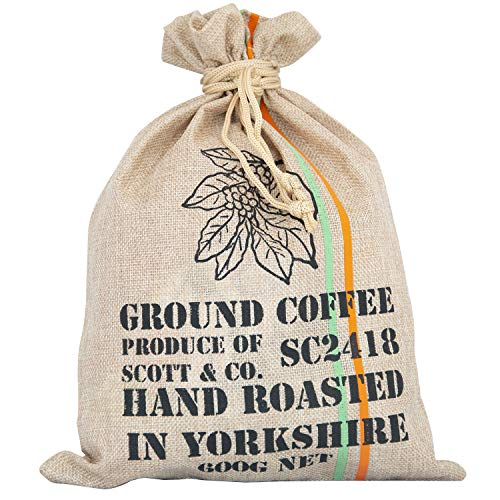 Scott&Co. Ground Coffee Gift Set - Your Coffee Set Contains 10 Different Around The World Coffees Which are Hand Roasted in The UK. Complete with Info Booklet.