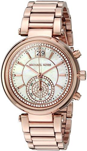 Michael Kors Women's Sawyer Rose Gold-Tone Watch MK6282