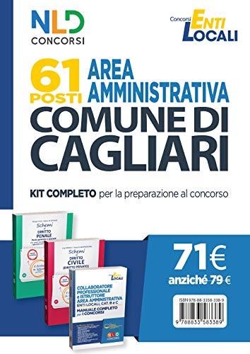 Concorso Comune di Cagliari. 61 posti area amministrativa. Kit completo per la preparazione al concorso