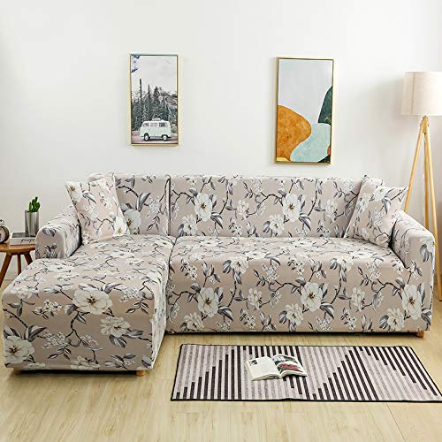 Simple Universal L-Shaped All-Inclusive Sofa Cover, Non-Slip, Stain-Proof And Pet-Grabbing Sofa Towel, Elastic, Machine Washable And Easy To Install Sofa Chair Cover