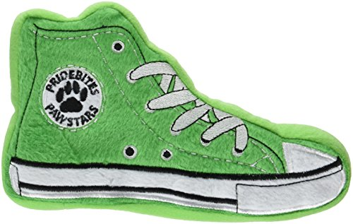 PrideBites Dog Squeak Toys Sneaker Dog Toy - Made of Durable Fleece, 55 lb Pull Pressure, Soft Foam Stuffing - Indoor/Outdoor & Machine Washable - Floats in Water - As Seen on ABC Shark Tank