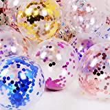 Party Balloons 12inch 50 Pcs Latex Confetti Balloons Birthday Balloons Party Decoration Wedding Baby Shower Christmas Party-Confetti Multi Color