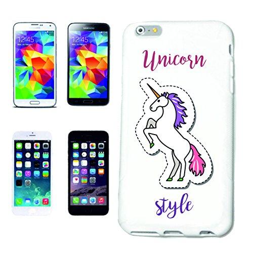 Bandenmarkt telefoonhoes compatibel met Samsung Galaxy S5 eenhoorn Unicorn mythische wezens paard geit emoji Licorne Unicornio Mythos middeleeuwse hoorn hardcase beschermhoes