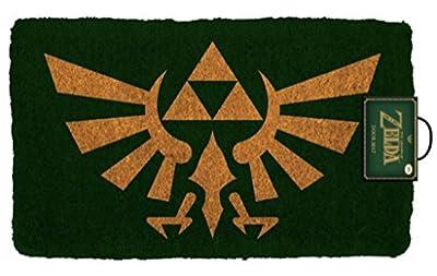 Pyramid America The Legend of Zelda Crest Video Game Gaming Outdoor Doormat Door Mat 30x18 inch