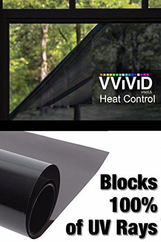 Heat Control Window Film 100% Anti UV Vinyl Wrap Dark Tint Roll