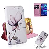 GLXC AYDD Magnolia Flower Motif Coloré Dessin Horizontal Flip Cuir Coque pour Huawei Y7 Premier...