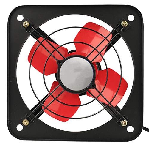 Ventilador de escape Tipo de ventana de humo de cocina potente de 8 pulgadas silenciado Ventilador de ventilación industrial con gran volumen de aire con cobre Hogar de baño para el hogar Vent