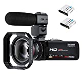Video Camera Camcorder ORDRO 3.1'' IPS Touch Screen WiFi Camcorders FHD 1080P 30FPS Digital Video Camera Recorder with Microphone