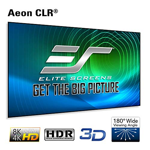 Elite Screens Aeon CLR Series, 100-inch 16:9, Edge Free Ambient Light Rejecting Fixed Frame Projector Screen, Ceiling Light Rejecting Projection Material for Ultra-Short Throw