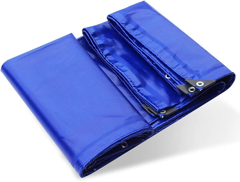 YANZHEN Tarpaulin Waterproof Sunscreen PVC Coated Cloth Shade Linoleum Insulation Greenhouse, 6 Size (color   blueee, Size   3x3M)
