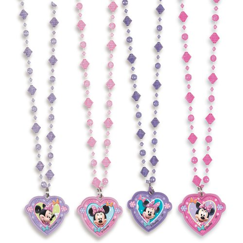 Minnie Mouse Minnie Mouse Bead Necklaces, 4 Count