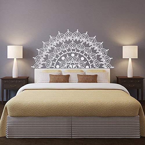 GUUTOP Half mandala etiqueta de la pared cabecera etiqueta de la pared extraíble dormitorio pegatina mandala arte de la pared sala de meditación gitana bohemia 125 * 57cm