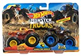 Hot Wheels Demo Doubles Monster Trucks Spur of The Moment vs. Steer Clear Giant Wheels