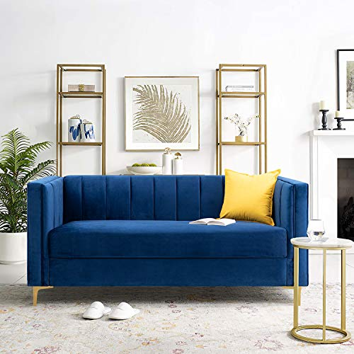 Homall Modern Upholstered Sofa, Blue