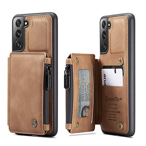 Case Cover, Custodia per Samsung Galaxy S21 PLUS Cassa da portafoglio con supporto per carta, slot per schede in cuoio PU Premium PU con cassa doppia chiusura magnetica e funivia antifurto RFID