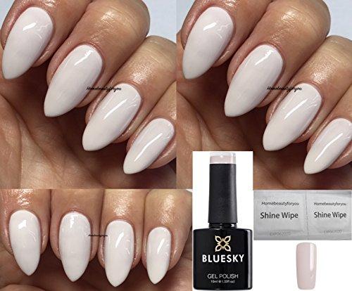BLUESKY SPC02 Porcelain Gellack 10ml | Gel-Nagellack für glänzende und schöne Nägel | langer Halt von bis zu 3 Wochen