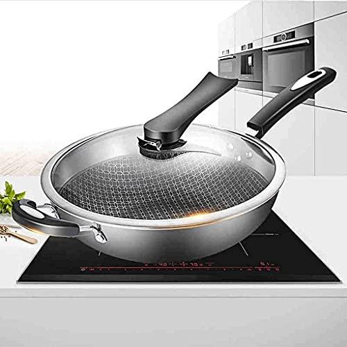 Quality Stainless Steel Wok 304 Wok Non-Stick ing Pan No Pan Without Coating Fried Professional pan Sllet Pan Wok Free Send Sponge