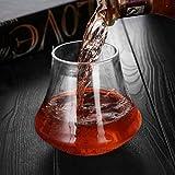 ERTYCristal Verre Travail Manuel Haut Grade Tasse de crâne Transparente pour la Marque de Whisky de vin Vodka, 2 PCS