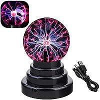 Luz de bola de plasma, lámpara táctil sensible, bola de cristal mágica, iluminación ambiental interior