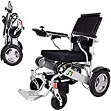 Silla de ruedas eléctrica, portátil, equipada con dos (2) motores de 250 vatios, baterías duales, silla de ruedas...