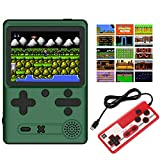 Nicico Handheld Game Console, Portable Game Player Built-in 500 HD Classic Games 3' LCD Retro Gaming System, Support TV/AV Two Player Game Handheld Game Console