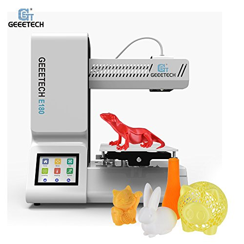 Geeetech E180 High Precision Fully Assembled Desktop 3D Printer Built-in WiFi Remote Control 3.2' Full Color Touch Screen