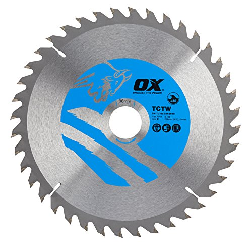 OX Wood Cutting Circular Saw Blade 216/30mm, 40 Teeth ATB
