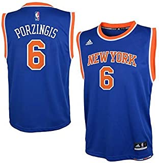 adidas Kristaps Porzingis New York Knicks Youth Blue Jersey