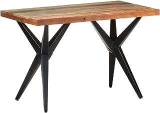 vidaXL Table de Salle à Manger Table de Cuisine Table à Dîner Table de Repas Meuble de Cuisine Intérieur 120x60x76 cm Bois...