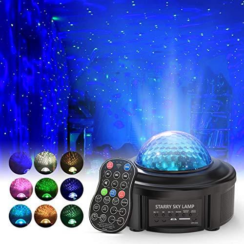 Sternenhimmel Projektor, Sinohrd Nachtlicht mit Fernbedienung Eingebauten Bluetooth Lautsprecher Sound Sensor für Baby Kinder Schlafzimmer, Haus Dekoration