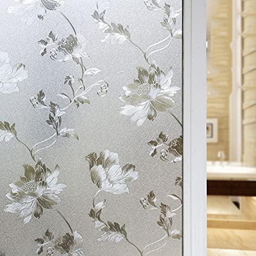 Película de privacidad de Ventana Opaca de Vidrio Esmerilado Impermeable, película de decoración del hogar, película autoadhesiva de baño de Dormitorio O 60x300cm