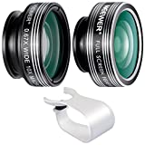 Neewer 3-in-1 Clip-on Lens Kit for iPhone 8 7 6, Android Tablets, iPad