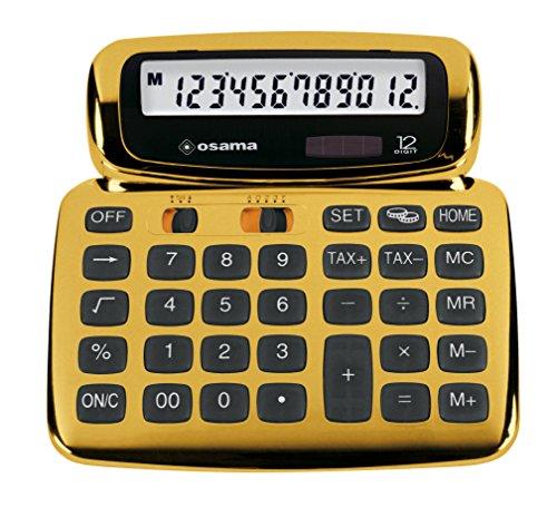 OSAMA SOFTY calcolatrice design 12 cifre oro