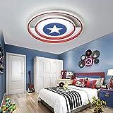 RXY-(1-1) Captain America Shield Style Ceiling Light Children's Room Bedroom Light Simple Modern Boy Girl Room Creative Cartoon Light Chandelier (Size : 50cm)