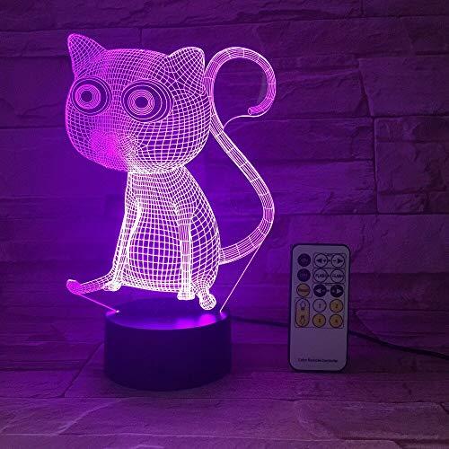 Jiushixw 3D acryl nachtlampje met afstandsbediening tafellamp kleurverandering violet violet en verjaardag voor kinderen tafellamp met witte wereldbol