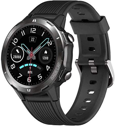 Reloj inteligente Fitness Tracker de 1,3 pulgadas, pantalla táctil completa, 5 ATM, impermeable, monitor de ritmo cardíaco, monitor de actividad, contador de pasos, calorías, monitor de sueño, reloj B