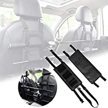 Buwico 1 Pair Durable Nylon Fishing Rod Holder Rest Car Carrier for Vehicle Backseat 3 Poles Tackle Tool