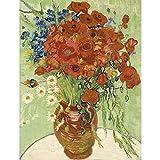 Pintura de bricolaje por números flores pintura al óleo pintada a mano pintura...