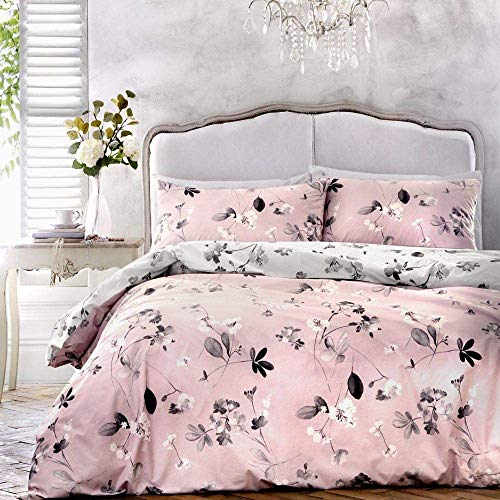 Dreams & Drapes - Grace - Easy Care Duvet Cover Set - Double Bed Size in Pink