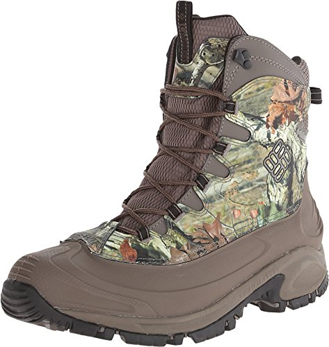 Columbia Men's Bugaboot Waterproof 200g Winter Boots (9.5, Mossy Oak/Mud-M)