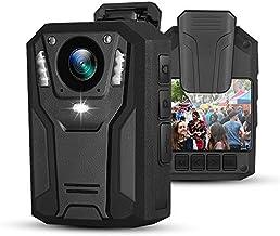 BOBLOV P100 1296P بدنه بدنه دوربین 8-9 ساعته ضبط کننده ضبط کننده فیلمبرداری پوشیدنی بصورت دستی دید در شب برای اجرای قانون (64G)