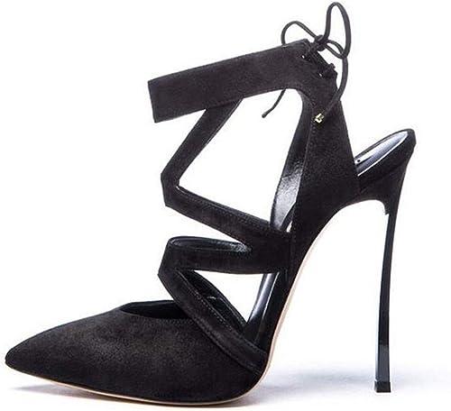 Sandalias de mujer, Tacones Altos nuevos y Puntiagudos, Tacones Altos, Sandalias de mujer Sexy de Moda, zapatos de 12 cm de Altura