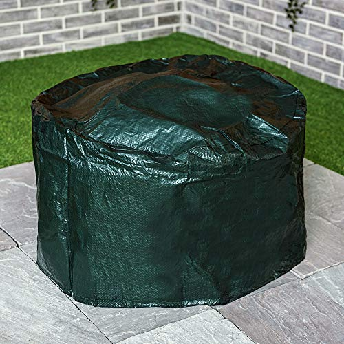 LIVIVO Heavy Duty Large Waterproof Firepit Cover Fire Pit BBQ Rain Garden UV Protector New Premium Quality With Drawstring Cord - Green
