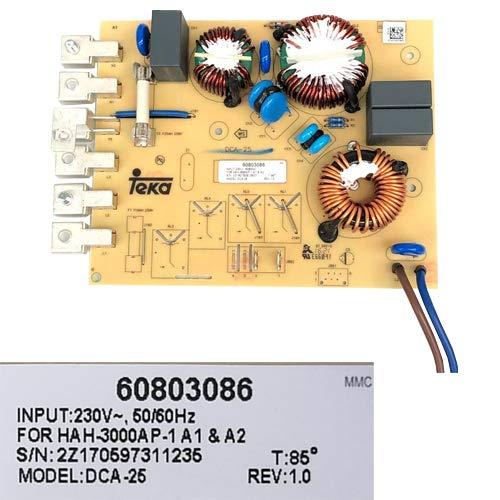Desconocido Módulo Electrónico 60803086, DCA-25 Rev 1.0, Teka IR 3200 VR01