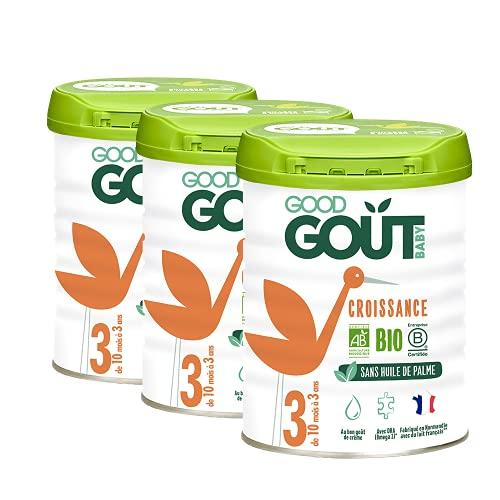 Good Goût - BIO - Lait Infantile en poudre 3ème Âge 800g de 10 mois à 3 ans - lot de 3