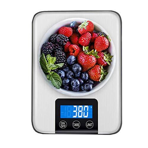LXYScales Digitale huishoudweegschaal, 5 kg/1 g, voor de keuken, elektronische weegschaal met LCD-display, tarra-functie, zonder batterijen, keukenweegschaal, professionele weegschaal, digitale weegschaal, keukenweegschaal