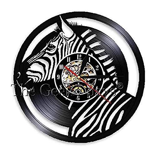 1 stuk schepsel retro vinyl record wandklok handgemaakte exclusieve kwarts wilde dieren kunst natuur decor klok