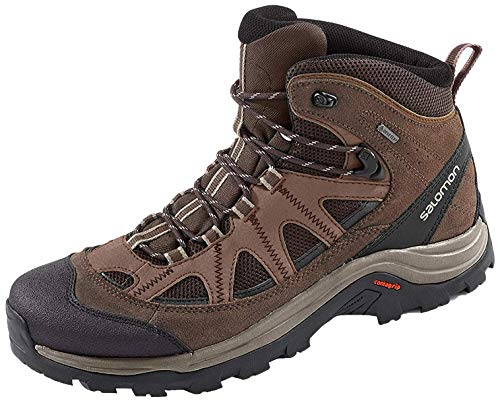 Salomon Authentic LTR GTX, Zapatillas de Senderismo para Hombre, Marrón/Negro (Black Coffee/Chocolate Brown/Vintage Kaki), 45 1/3 EU