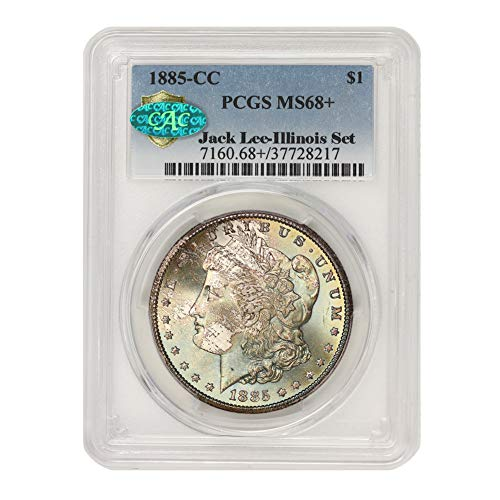 1885 CC American Silver Morgan Dollar MS-68+ Illinois Set by CoinFolio $1 MS68+ PCGS/CAC